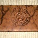 Genuine Leather Checkbook Cover Miami Dolphins / BM