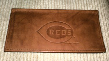 Genuine Leather Checkbook Cover Cincinnati Reds / BM