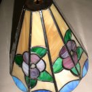 CWT Stained Glass Look Floral Finial Light Shade #209.039