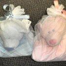 Ganz Bear Gingham Baby Blanket  Blue Or Pink # 065810280929 / 280905
