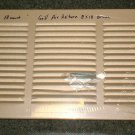 "Return Air Grille 9 3/4"" X 19 3/4""  Light Brown"