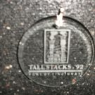 Port Of Cincinnati Tallstacks '92 Clear Etched Ornament