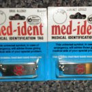 "Med-Ident Medical Identification Tag  8"" Bracelet  Contact Lenses Or Drug Allerg"