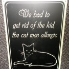 "MCS Industries 14"" X 12"" Cat Allergic Tin Sign"