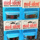 "Med-Ident Medical Identification Tag  8"" Bracelet  Epilepsy,Heart,Tetanus Or See"