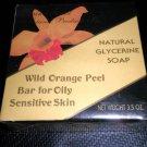 RFNPI Natural Glycerine Soap - Wild Orange Peel Bar Oily, Sensitive Skin  3.5 oz