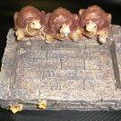 GSC Resin Turtles On A Brick Garden Decor / Planter #61083