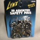 Lynx 50 Assorted Nickel & Brass Safety Pins Sizes: 00,1,2, & 3 #15028