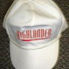 Highlander Baseball Cap White With Red Vinyl Letters OSFM