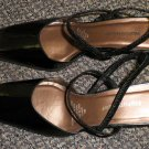 Naturalizer Verona Black Patent Leather Hi Heel Shoes Size 10 W