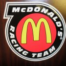 "Mc Donald's Racing Team  Decal 6 1/4"" Wide X 6"" Long"