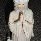 Enesco There Were Shepherds Wiseman (Kneeling) Porcelain Glaze Figurine #51203