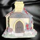 Enesco Foxton Folk Church Candleholder With Votive Candle 1995 #712203