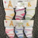 1st Baby Baby Lucky Socks  Multi Colored Stripes 6 Pairs