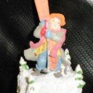 Enesco Boy Holding Skis Figurine 1993 #657646