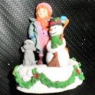 Enesco Girl With Snowman Figurine 1993 #657646