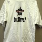 "Cadre Athletic Professional Bull Riding ""Got Nerve? "" White T-Shirt Size: Large"