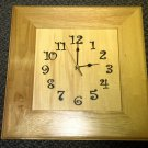 Gift Giant Natural Wood Black Numbers Wall Battery Operated Clock #W103CL