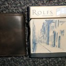 Rolf's Geniune Leather Brown Trifold Wallet #89090866-210