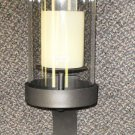 Home Reflections Oversized Black Iron  Sconce W/ Flameless Candle #H1865410300