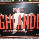 "Panzer Production Highlander "" Only One "" Metal License Plate 11 7/8"" X 5 7/8"""