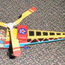 Metal King Collectible Tin Toy Friction Helicopter #MF334