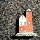 Lefton's Historic American Lightouse Ornament 2000 - Round Island, MI #CCM12837
