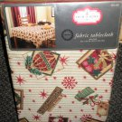 "Trim A Home Christmas Fabric Tablecloth Oblong 60"" X 102"" #02833252131"