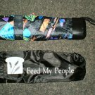 """Feed My People Butterfly 42"""" Compact  Umbrella"""