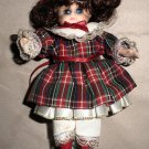 Marie Osmond Fine Porcelain Christmas Greeting Card Doll By Knickerbocker 1993