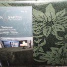 """Jaclyn Smith Green Midnight Clear Tablecloth Oblong 60"""" X 120"""" #046781707493"""