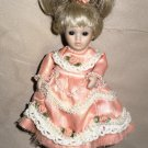 Marie Osmond Fine Porcelain Happy Birthday Greeting Card Doll By Knickerbocker