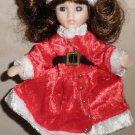 Marie Osmond Fine Porcelain Christmas Greeting Card Doll By Knickerbocker #Santa