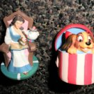 Lenox The Disney Magic Thimble Collection - Belle (BATB) & Lady (LATT)