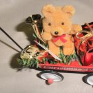 Figi's Bear In Christmas Wagon Ornament 1994  # 051-3519-5-94