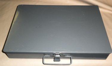 "Steel / Metal Gray Storage Organizer Box 16 Plastic Sections Size:13.5""X9.5""X2"""