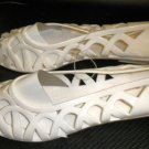 Ladie's Rubber / Man Made Off White Slip On Sandals Size: 7