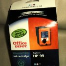 Office Depot Remanufactured Ink Cartridge Replaces HP99 3 Color Photo Ink#843694