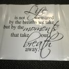 """Sentimental Wall Quote """" Life..."""" Decal #16417431"""