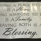 """Sentimental Wall Quote """" Blessings..."""" Decal #16417424"""