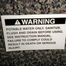 RV Information Decal Warning Potable Water Only  #TL50002/3WPWO