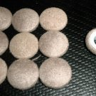Troyer Products Button / Trim Screw Caps - Passion Suede Stone  Package 15