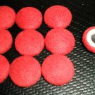 Troyer Products Button / Trim Screw Caps - Bright Red  Package 15
