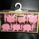 Better Homes Plastics Corp Pink Flower Deluxe Shower Hooks Set 12 #0447120