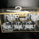Better Homes Plastics Corp Silver Flower Deluxe Shower Hooks Set 12 #0447120