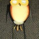 LCI Solar Metal Garden Owl Statue #246984-02