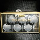 Better Homes Plastics Corp Silver Sea Shell Deluxe Shower Hooks Set 12 #0447120