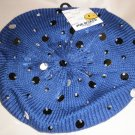 Joe Boxer OSFM Knit Blue / Bead / Metallic Beret #6941985620453