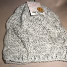 Joe Boxers Women's OSFM  Gray / White Cable  Knit Cap #808518019213