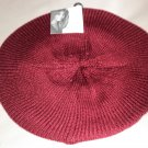 Jaclyn Smith OSFM Knit Beret - Burgundy #808518019381
